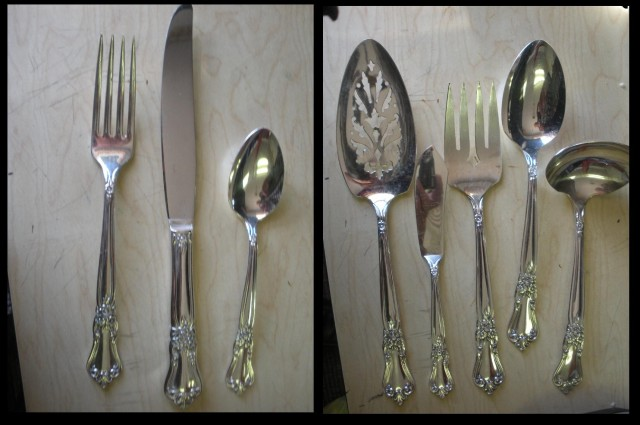 Valley Rose  flatware from W.A. Rogers and Oneida 1956