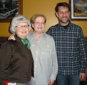 Anne Crofoot Queen, Carol Cunningham, and John Crofoot