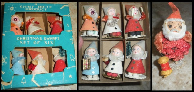 These were on our mantle every Christmas until Mama moved here.