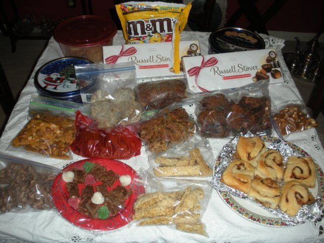 Some of the sweets of Cjhristmas.