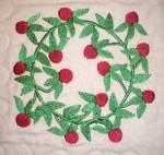 AWOL, red and green quilt, snowan quilt, Pat's stuff 127