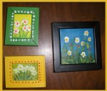 My 3 mini canvases