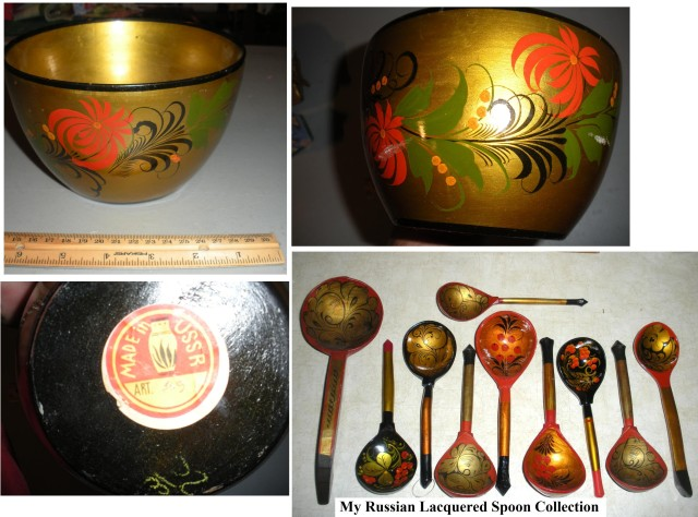 Russian Lacquered spoon