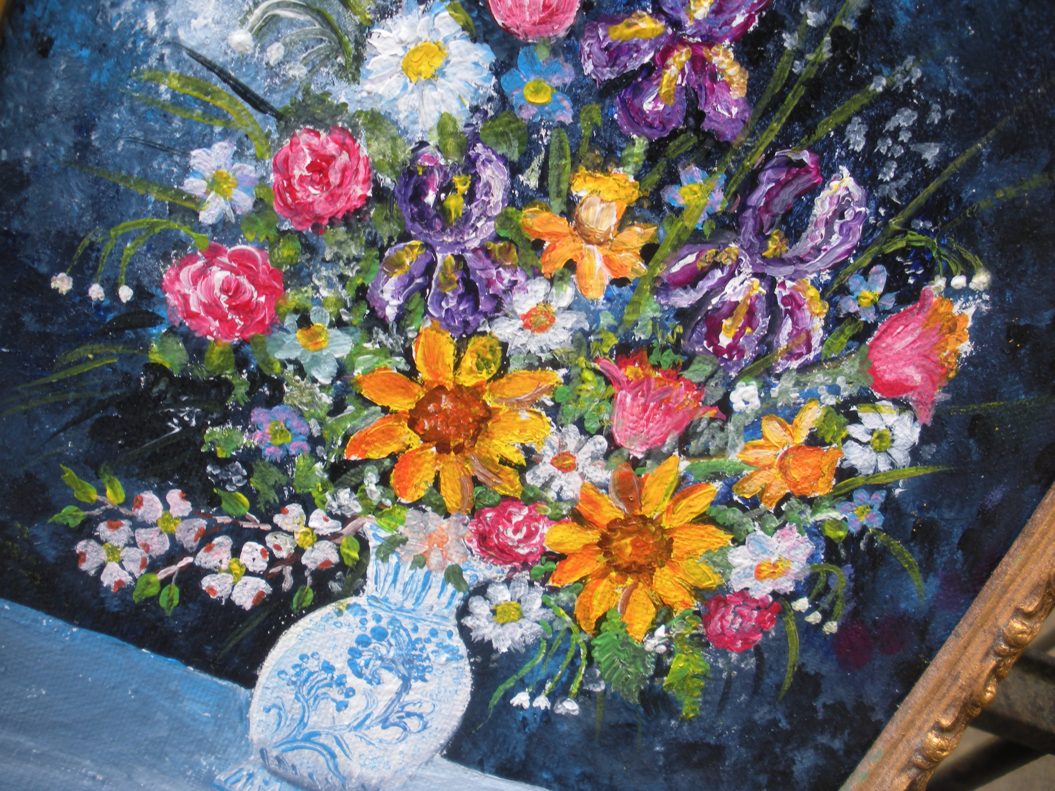 Florals in ming vase mini still life acrylic painting jim caq acrylic floral watercolors flowers 142 reviewsmspy