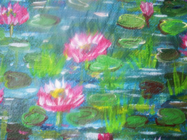 acrylic water lily painting this ain t no claude monet