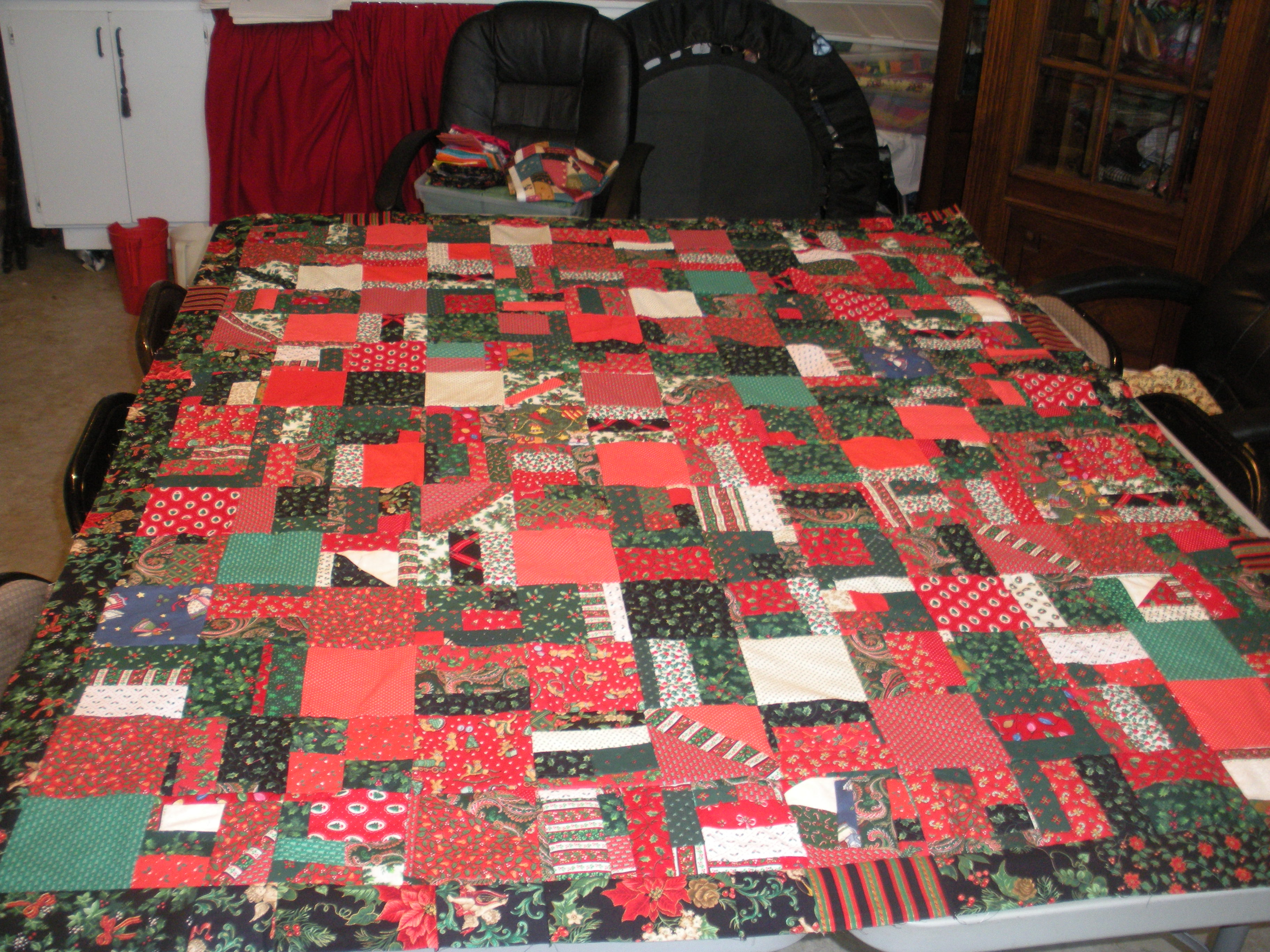 laurel tag quilts sweaters ugly finished christmas quilt complete by