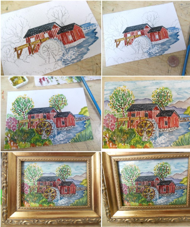 watercolor Mill 1