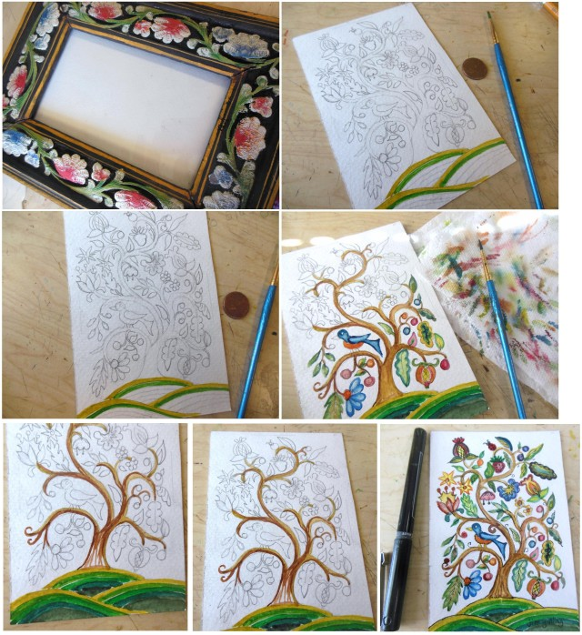 Watercolor Tree of life 1
