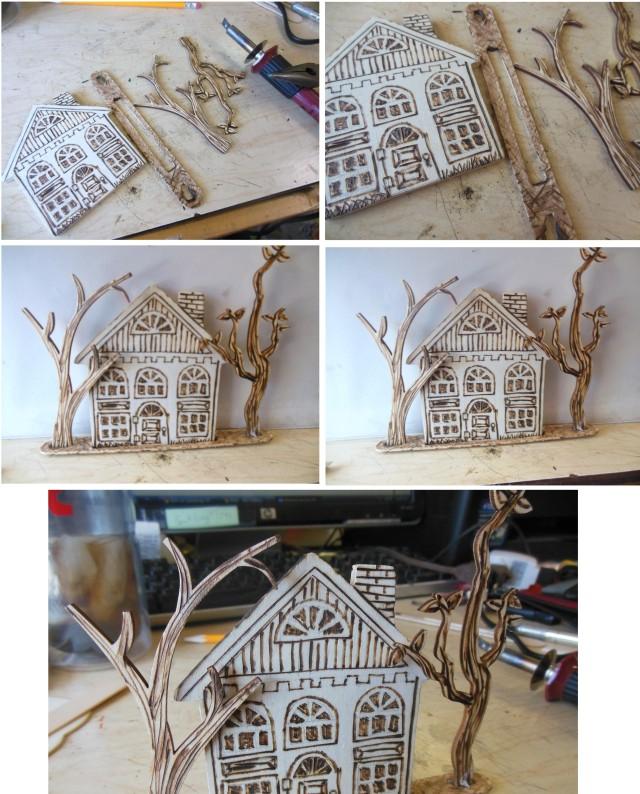 wood burning house
