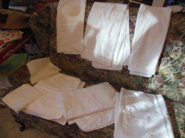 The unironed table clothes